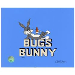 """Chuck Jones """"Title """"Bugs Bunny"""""""" Hand Signed, Hand Painted Limited Edition Sericel."""