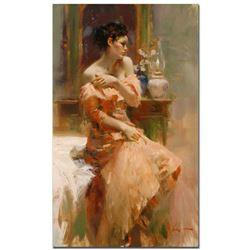 "Pino (1939-2010) - ""Silk Taffeta"" Artist Embellished Limited Edition on Canvas (24"" x 40""), AP Numbe"