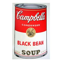 """Andy Warhol """"Soup Can 11.44 (Black Bean)"""" Silk Screen Print from Sunday B Morning."""