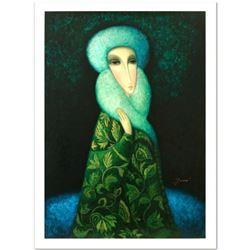 "Legendary Russian Artist Sergey Smirnov (1953-2006). ""Lara"" Limited Edition Mixed Media on Canvas (2"