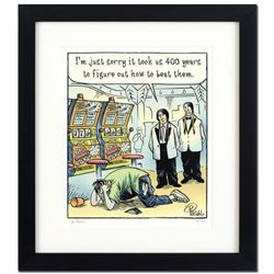 """Bizarro! """"Casino Indians"""" is a Framed Limited Edition Hand Signed by creator Dan Piraro; Numbered wi"""