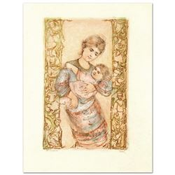 """Fair Alice and Baby"" Limited Edition Lithograph by Edna Hibel (1917-2014), Numbered and Hand Signed"