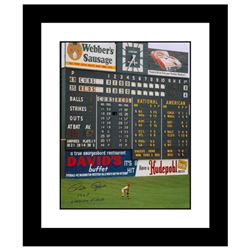 """Rose in Outfield at Crosley"" Framed Archival Photograph Featuring Pete Rose Taken by Photographer S"