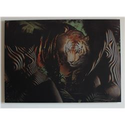 "Vera V. Goncharenko- Print on Aluminum ""The Ladies with the Tiger"""