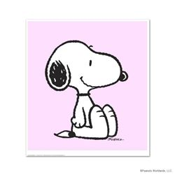 """Snoopy: Pink"" Hand Numbered Limited Edition Chromatic Pigment Ink Fine Art Print created from the o"