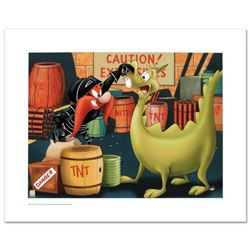 """""""Stupid Dragon"""" Limited Edition Giclee from Warner Bros., Numbered with Hologram Seal and Certificat"""
