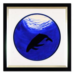 """Wyland -""""Whale"""" Framed Original Watercolor Painting, Hand Signed with Certificate of Authenticity."""