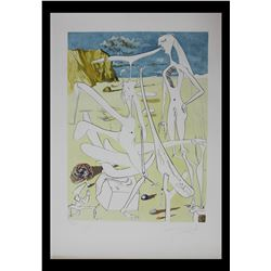 "Salvador Dali- Original Engravings with Lithographic Color ""Infraterrestres Adores par Dali a Cinq A"