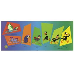 """Chuck Jones """"Evolution Of Daffy"""" Hand Signed, Hand Painted Limited Edition Sericel."""