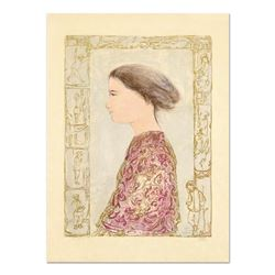 """Edna Hibel (1917-2014), """"China Profile"""" Limited Edition Lithograph on Rice Paper, Numbered and Hand"""