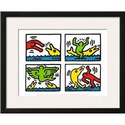 "Keith Haring ""Pop Shop V"" Custom Framed Offset Lithograph"