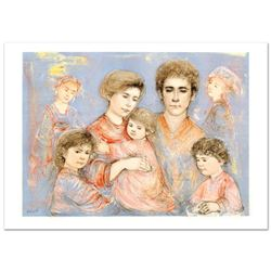 """""""Michael's Family"""" Limited Edition Lithograph (36"""" x 26"""") by Edna Hibel (1917-2014), Numbered and Ha"""