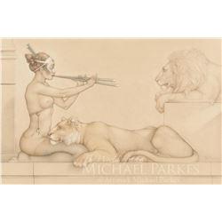 "Michael Parkes ""Lion's Song"" Masterworks on Vellum"