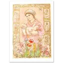 """""""Raquela"""" Limited Edition Lithograph by Edna Hibel (1917-2014), Numbered and Hand Signed with Certif"""