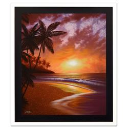 """Jon Rattenbury, """"Shores Of Paradise"""" Limited Edition Giclee on Canvas, Numbered and Hand Signed by t"""