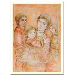 """""""Portrait of a Family"""" Limited Edition Lithograph by Edna Hibel (1917-2014), Numbered and Hand Signe"""
