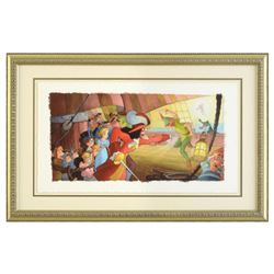 """Toby Bluth (1940-2013), """"Blast You Pan"""" Framed Limited Edition Giclee, Licensed by Disney Fine Art,"""