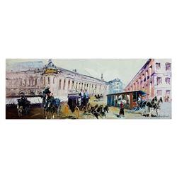 "Shalva Phachoshvili- Original Oil on Canvas ""Street View"""