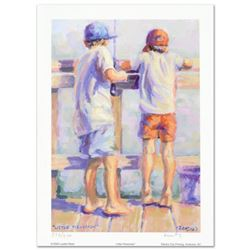 """""""Little Fishermen"""" Limited Edition Lithograph by Lucelle Raad, Numbered and Hand Signed by the artis"""