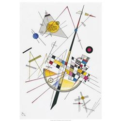 """Wassily Kandinsky """"Delicate Tension (1923) """" Offset Lithograph"""