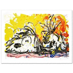 """""""Blow Dry"""" Limited Edition Hand Pulled Original Lithograph (37"""" x 25.5"""") by Renowned Charles Schulz"""
