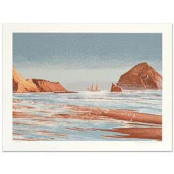 "William Nelson, ""Sailing The Coast"" Limited Edition Serigraph, Numbered and Hand Signed by the Artis"
