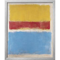 "Mark Rothko ""Untitled (Yellow, Red and Blue), c.1953"" Custom Framed Offset Lithograph"
