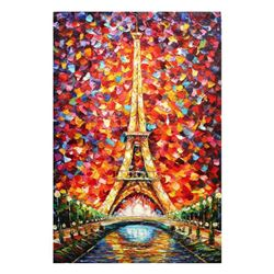 "Svyatoslav Shyrochuk - ""Eiffel Tower"" Limited Edition on Canvas, Numbered and Hand Signed with Certi"