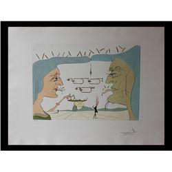 "Salvador Dali- Original Engravings with color by pochoir ""Le telegraphe """