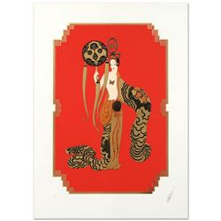 "Erte (1892-1990), ""Bamboo"" Limited Edition Serigraph, Numbered and Hand Signed with Certificate."