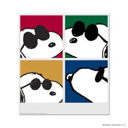"""Snoopy: Faces"" Hand Numbered Limited Edition Chromatic Pigment Ink Fine Art Print created from the"