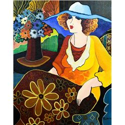 "Patricia Govezensky- Original Acrylic on Canvas ""Golden Years"""