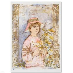 """Flora"" Limited Edition Lithograph by Edna Hibel (1917-2014), Numbered and Hand Signed with Certific"