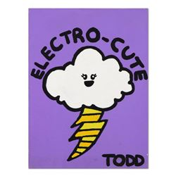 "Todd Goldman, ""Electro-Cute"" Original Acrylic Painting on Gallery Wrapped Canvas, Hand Signed with C"