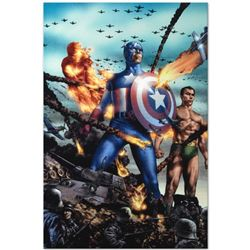 """Giant-Size Invaders #2"" Limited Edition Giclee on Gallery Wrapped Canvas by Jay Anacleto and Marvel"