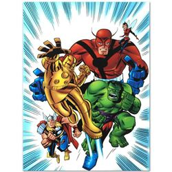 """Avengers #1 1/2"" Limited Edition Giclee on Canvas by Bruce Timm and Marvel Comics, Numbered with Ce"