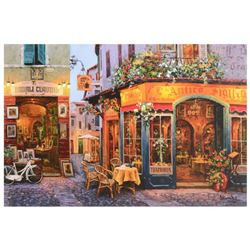 "Viktor Shvaiko, ""L'Antico Sigillo"" Hand Embellished Limited Edition Serigraph on Canvas, Numbered an"