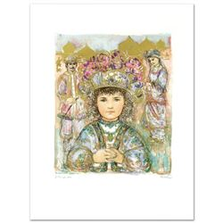 """Darya's Daughter"" Limited Edition Lithograph by Edna Hibel (1917-2014), Numbered and Hand Signed wi"