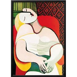 "Pablo Picasso ""The Dream"" Custom Framed Offset Lithograph"