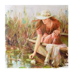 "Vidan - ""By the Pond"" Limited Edition on Canvas, Numbered and Hand Signed with Certificate."