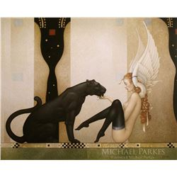 "Michael Parkes ""Black Panther White Wings"" Masterworks on Canvas"