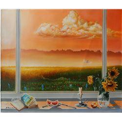 """Alexander Borewko- Original Oil on Canvas """"Hard Work"""""""