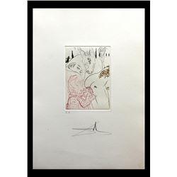 """Salvador Dali- Original Engravings in color """"Le Jument de Compere Pierre"""""""