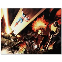 """""""Fallen Son: Death of Captain America #5"""" Limited Edition Giclee on Canvas by John Cassaday and Marv"""