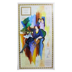 "Patricia Govezensky- Original Acrylic Painting on Nautical Chart ""We Are One"""