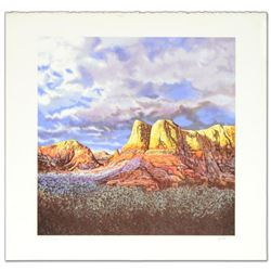 """""""Oak Creek Sunset"""" Limited Edition Lithograph by Jorge Braun Tarallo, Numbered and Hand Signed by th"""