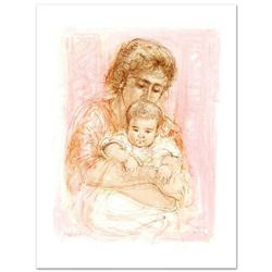"""""""Gina and Child"""" Limited Edition Lithograph by Edna Hibel (1917-2014), Numbered and Hand Signed with"""