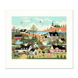 """Jane Wooster Scott - """"Sunday in New England"""" Limited Edition Serigraph, Hand Signed with Certificate"""