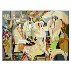 """Isaac Maimon, """"Charming Bistro"""" Limited Edition Serigraph, Numbered and Hand Signed with Letter of A"""