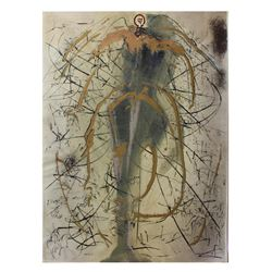 "Salvador Dali- Original Gouaches with Original Engravings ""The Angel of Alchemy"""